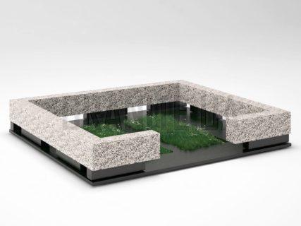 Могильна огорожа OG-35 Покостівський граніт