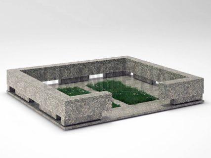 Могильна огорожа OG-35 Танський граніт