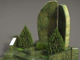 Пам'ятник з зеленого граніту